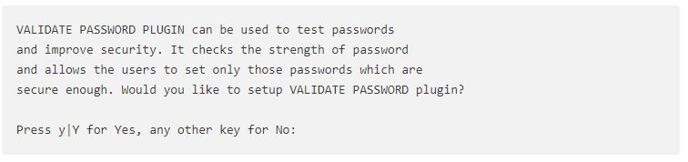 VALIDATE PASSWORD PLUGIN