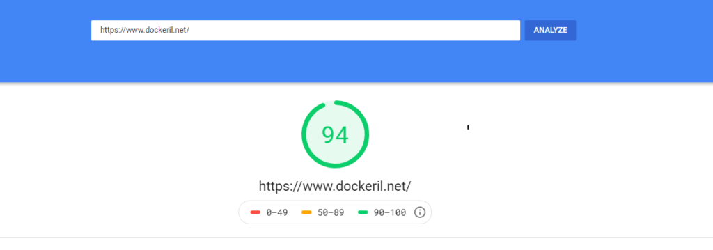 SEO - Google Page Speed result - techblog.co.il