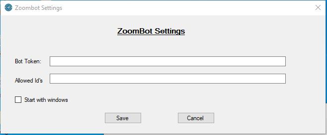 ZoomBot Settings